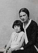 Ethel Mannin, and young girl, England, UK, 1929