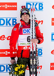 BJOERNDALEN Ole Einar of Norway after the Men 12.5 km Pursuit competition of the e.on IBU Biathlon World Cup on Saturday, March 8, 2014 in Pokljuka, Slovenia. Photo by Vid Ponikvar / Sportida