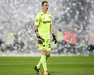 Joe Hart ,the goalkeeper of West Ham United looks on. Premier league match, West Ham Utd v Huddersfield Town at the London Stadium, Queen Elizabeth Olympic Park in London on Monday 11th September 2017.<br /> pic by Kieran Clarke, Andrew Orchard sports photography.