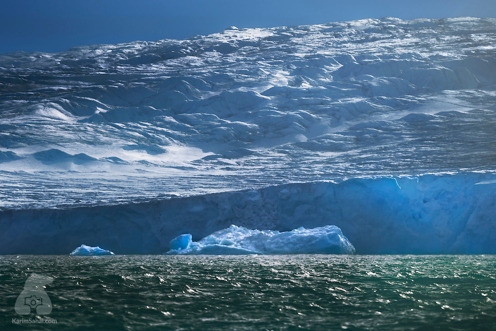 Nordaustlandet's Austfonna ice cap, with its Bombay Sapphire look.