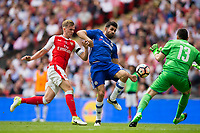 Chelsea's Diego Costa gets a shot in under pressure from Arsenal's Rob Holding and Arsenal's David Ospina        <br /> <br /> <br /> Photographer Craig Mercer/CameraSport<br /> <br /> The Emirates FA Cup Final - Arsenal v Chelsea - Saturday 27th May 2017 - Wembley Stadium - London<br />  <br /> World Copyright © 2017 CameraSport. All rights reserved. 43 Linden Ave. Countesthorpe. Leicester. England. LE8 5PG - Tel: +44 (0) 116 277 4147 - admin@camerasport.com - www.camerasport.com