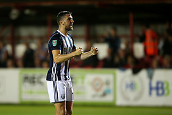 West Brom's Jay Rodriguez celebrates after scoring his sides third goal  - Mandatory by-line: Matt McNulty/JMP - 22/08/2017 - FOOTBALL - Wham Stadium - Accrington, England - Accrington Stanley v West Bromwich Albion - Carabao Cup - Second Round