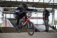 #99 (GEORGE Danielle) USA at Round 5 of the 2019 UCI BMX Supercross World Cup in Saint-Quentin-En-Yvelines, France