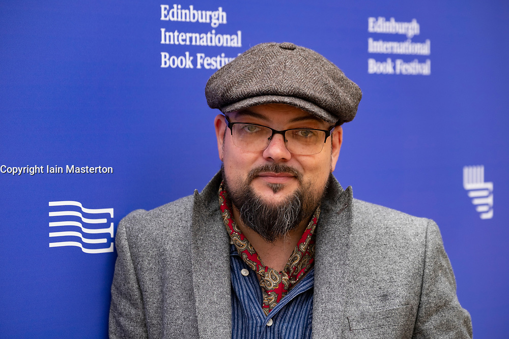 """Edinburgh, Scotland, UK. 26 August, 2018. Pictured; Crime writer David Mark whose """"Scorched Earth"""" is the seventh on the long running DS McAvoy series."""