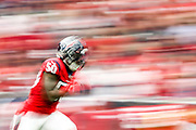 Tyrell Adams #50 of the Houston Texans runs during the punt return during the game against the Denver Broncos at NRG Stadium on December 8, 2019 in Houston, Texas.