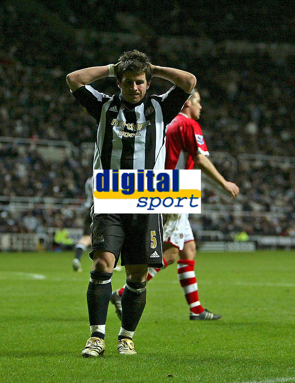 Photo: Andrew Unwin.<br /> Newcastle United v Charlton Athletic. The Barclays Premiership. 22/02/2006.<br /> Newcastle's Emre rues a missed opportunity.