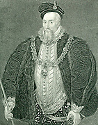 Robert Dudley, Earl of Leicester (1532-1588) English courtier. Favourite of Elizabeth I. Engraving.