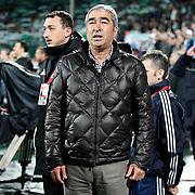 Besiktas's coach Samet Aybaba during their Turkish soccer super league match Bursaspor between Besiktas at Ataturk Stadium in Bursa Turkey on Monday, 08 April 2013. Photo by TURKPIX