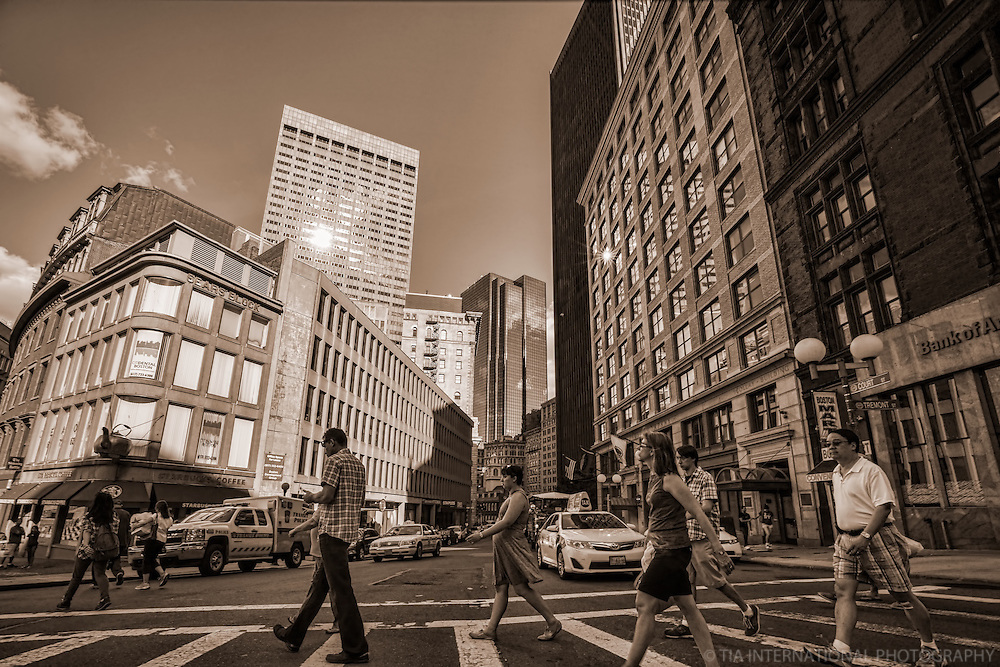 Court & Tremont Streets, Downtown Boston