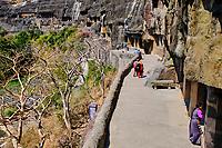Inde, état de Maharashtra, Ajanta, grottes d'Ajanta classées au Patrimoine mondial de l'UNESCO // India, Maharashtra, Ajanta cave temple, Unesco World Heritage,