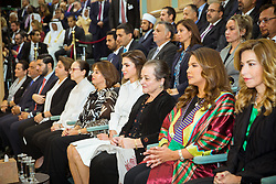 Jordan's Queen Rania Al Abdullah (4th from R) seen at the Parliament as King Abdullah II delivers a speech for the inauguration or the third ordinary session of the 18th Parliament, in Amman, Jordan, on October 14, 2018. Photo by Balkis Press/ABACAPRESS.COM