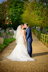 Summer Wedding at St. Peter's Church in Benington, Hertfordshire.