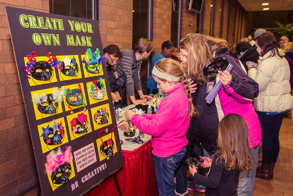 Create your own New Year's Eve mask at First Night Akron 2015