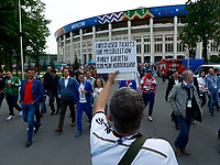 used tickets collector <br /> Moscow 13-06-2018 Football FIFA World Cup Russia  2018 <br /> Foto Matteo Ciambelli/Insidefoto