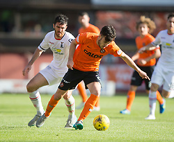 Dundee United's Scott Fraser and Inverness Caledonian Thistle's Ross Draper.<br /> Dundee United 1 v 1 Inverness Caledonian Thistle, SPFL Ladbrokes Premiership game played 19/9/2015 at Tannadice.