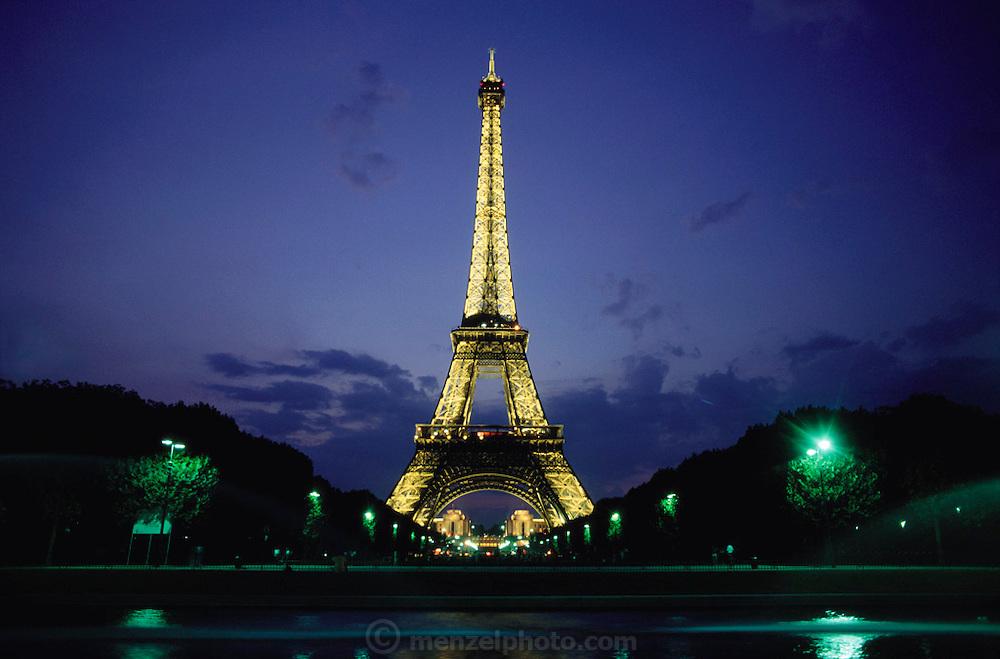 Eiffel Tower. Paris, France at dusk.
