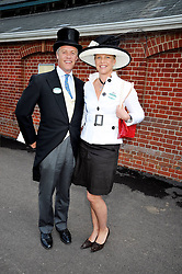 PETER & SOPHIE BURRELL at at the first day of the 2009 Royal Ascot racing festival on 16th June 2009.