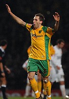 Photo: Ashley Pickering.<br /> Norwich City v Blackpool. The FA Cup. 13/02/2007.<br /> Darren Huckerby celebrates the equaliser for Norwich (1-1)