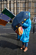 Anti Brexit, protesters in Westminster as the leader of the opposition and the Prime Minister continue talks to solve the Brexit Withdrawal Agreement on 4th April 2019 in London, England, United Kingdom. With just over two weeks until the UK is supposed to be leaving the European Union, the final result still hangs in the balance.