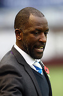 Huddersfield Town Manager Chris Powell looks on prior to kick off. Skybet football league Championship match, Burnley v Huddersfield Town at Turf Moor in Burnley ,Lancs on Saturday 31st October 2015.<br /> pic by Chris Stading, Andrew Orchard sports photography.
