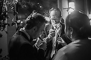 Snow Queen cigar smoker of the year, Boisdale of Canary Wharf. London. 12 December 2016