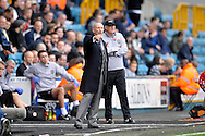 Millwall Manager Ian Holloway giving directions from the dugout. Skybet football league championship match , Millwall v Cardiff city at the Den in Millwall, London on Saturday 25th October 2014.<br /> pic by John Patrick Fletcher, Andrew Orchard sports photography.