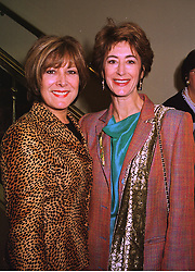 Left to right, actress LYNDA BELLINGHAM and actress MAUREEN LIPMAN, at a luncheon in London on 12th October 1998.MKR 11