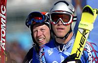 Alpint. OL 2002 Salt Lake City. Lasse Kjus fra Norge og Bodie Miller fra USA. Storslalåm. 21.02.2002.<br />Foto: Andreas Hillergren, Digitalsport
