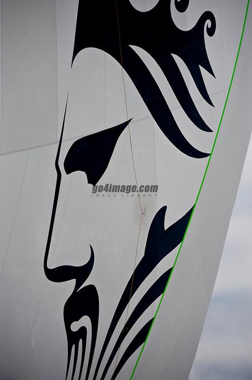 Auckland New zealand, Louis Vuitton Pacific Series racing day 1 Greek Challenge - Alinghi winner Alinghi, Greek team got 1 penalty in the prestart, Helmsman Alinghi Ed Baird, Greek Challende Gavin Brady