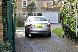 © Licensed to London News Pictures. 07/12/2012. Walton-On-Thmaes, U.K. Publicist MAX CLIFFORD returns to his home in his Rolls Royce on December 07, 2012 following an appointment. MAX CLIFFORD was released on bail from police custody late last night after being questioned by officers carrying out operation Yewtree. Photo credit : Rich Bowen/LNP