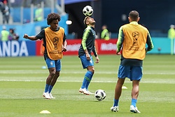 June 22, 2018 - Sao Petesburgo, Vazio, Russia - Neymar da Silva Santos Jr. during a match between Brazil and Costa Rica for the second round of group E of the 2018 World Cup, held at Saint Petersburg Stadium, St. Petersburg, Russia. Game ended scoreless. (Credit Image: © Thiago Bernardes/Pacific Press via ZUMA Wire)