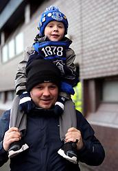 Everton fans arrive for the Premier League match at The Hawthorns, West Bromwich.