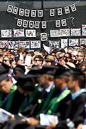 Photos of seniors fill Memory Lane at Dozier-Libbey Medical High School graduation on Friday, June 8, 2012.  (Photo by Kevin Bartram)