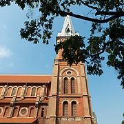 Side facade of Notre-Dame de Saigon cathedral, Ho Chi Minh