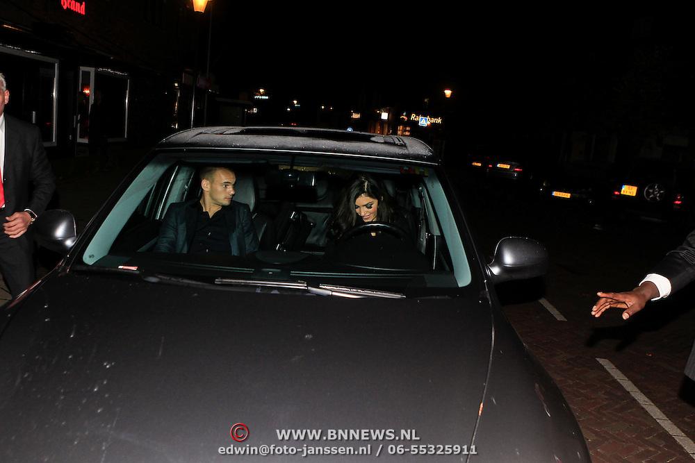 "NLD/Blaricum/20101107 - Red Sun benefietdiner "" Stop Kindermisbruik"" , Yolanthe Cabau van Kasbergen en partner Wesley Sneijder"