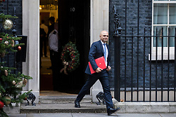 © Licensed to London News Pictures. 05/12/2017. London, UK. Secretary of State for Communities and Local Government Sajid Javid leaves 10 Downing Street after the weekly Cabinet meeting. Photo credit: Rob Pinney/LNP