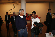 LARRY GAGOSIAN, James Rosenquist private view. Haunch of Venison. London. 10 October 2006. -DO NOT ARCHIVE-© Copyright Photograph by Dafydd Jones 66 Stockwell Park Rd. London SW9 0DA Tel 020 7733 0108 www.dafjones.com