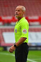 Referee Andy Woolmer looks on<br /> <br /> Photographer Richard Martin-Roberts/CameraSport<br /> <br /> The EFL Sky Bet Championship - Stoke City v Barnsley - Saturday 4th July 2020 - bet365 Stadium - Stoke-on-Trent<br /> <br /> World Copyright © 2020 CameraSport. All rights reserved. 43 Linden Ave. Countesthorpe. Leicester. England. LE8 5PG - Tel: +44 (0) 116 277 4147 - admin@camerasport.com - www.camerasport.com