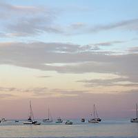 Central America, Nicaragua, San Juan del Sur. Boats in harbor of San Juan del Sur.
