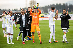 Kenan Pirić of Maribor and other players celebrate after winning during Football match between NK Triglav and NK Maribor in 25th Round of Prva liga Telekom Slovenije 2018/19, on April 6, 2019, in Sports centre Kranj, Slovenia. Photo by Vid Ponikvar / Sportida