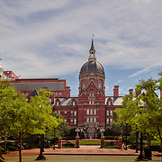 World famous Johns Hopkins hospital and university.