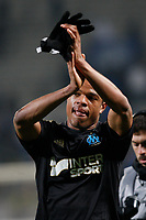 FOOTBALL - FRENCH LEAGUE CUP 2011/2012 - 1/2 FINAL - OLYMPIQUE MARSEILLE v OGC NICE - 1/02/2012 - PHOTO PHILIPPE LAURENSON / DPPI -  JOY LOIC REMY (OM) AFTER MATCH