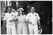 Saliors being given an official tour by a helpful native during Fleet Week, New York, May 23rd 1992© Copyright Photograph by Dafydd Jones 66 Stockwell Park Rd. London SW9 0DA Tel 020 7733 0108 www.dafjones.com