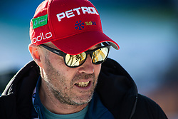 Uros Velepec head coach of Slovenian man national team seen during the Women 15 km Individual Competition at day 2 of IBU Biathlon World Cup 2019/20 Pokljuka, on January 23, 2020 in Rudno polje, Pokljuka, Pokljuka, Slovenia. Photo by Peter Podobnik / Sportida