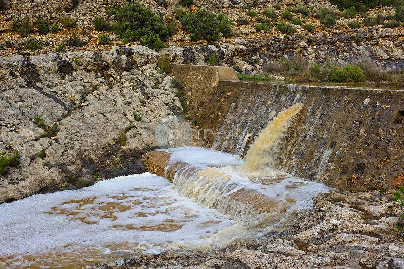 Rambla de Martín Moreno con agua. Almansa. Albacete Castilla La Mancha. España. Europa ©ANTONIO REAL HURTADO / PILAR REVILLA