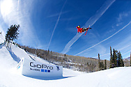 Sammy Carlson during Ski Slopestyle Practice at 2014 X Games Aspen at Buttermilk Mountain in Aspen, CO. ©Brett Wilhelm/ESPN
