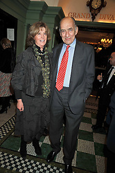 Former Chief of Generl Staff GENERAL SIR MIKE JACKSON and his wife LADY (Sarah) JACKSONat the 2009 Oldie of The Year Award lunch held at Simpson's in The Strand, London on 24th February 2009.