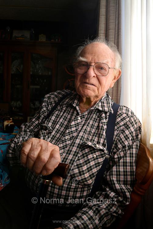 Walter Hill, 93, Tucson, Arizona, USA.