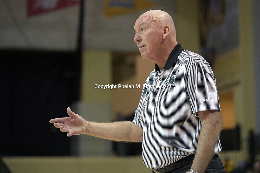 Tulane head coach Mike Dunleavy, Sr. calls out instructions from the sideline during the first half of an NCAA college basketball game against Oklahoma at the Tire Pros Invitational tournament on Thursday, Nov. 17, 2016 in Lake Buena Vista, Fla. (Photo by Phelan M. Ebenhack)