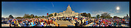 Panoramic photograph showing scene of The Dali Lama speaking at The U.S. Capitol. 10/17/2007.Print Size (in inches): 15x3; 24x5; 36x8; 48x10.5; 60x13; 72x15.5